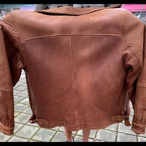 Mans leather jacket brown. Exchange only.